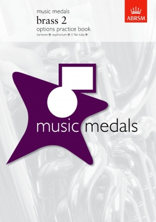 MUSIC MEDALS Brass 2 Options Practice Book (bass clef)