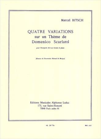 QUATRE VARIATIONS sur un Theme de Domenico Scarlatti