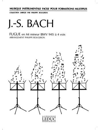 FUGUE in e minor BWV945 score & 30 parts