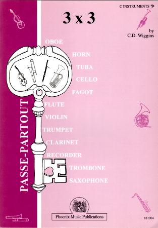 THREE TIMES THREE C instruments bass clef