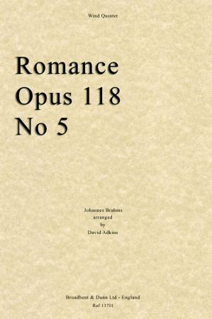 ROMANCE Op 118 No.5 (score & parts)