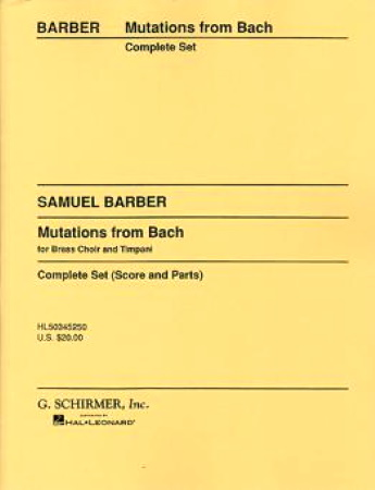 MUTATIONS FROM BACH (score & parts)