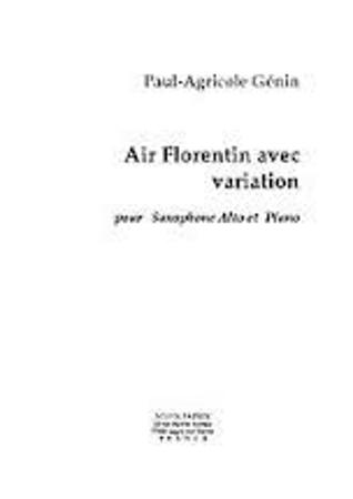 AIR FLORENTIN AVEC VARIATION Op.65
