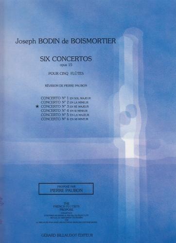 SIX CONCERTOS FOR FIVE FLUTES Op.15 No.3 in D major