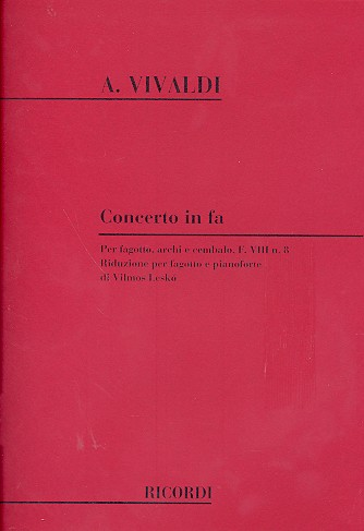 CONCERTO in F major FVIII/8 PV318 RV485 Op.45 No.5