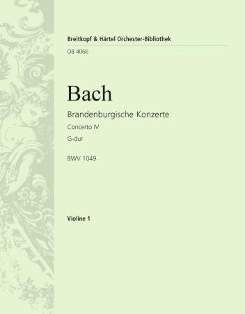 BRANDENBURG CONCERTO No.4 1st violin part
