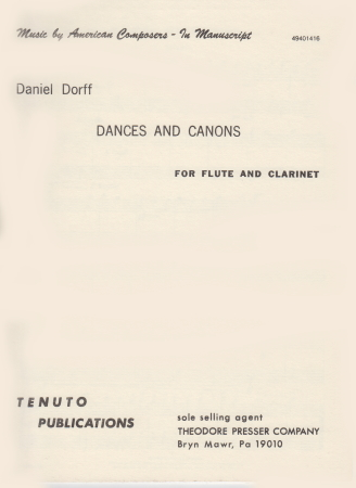 DANCES AND CANONS