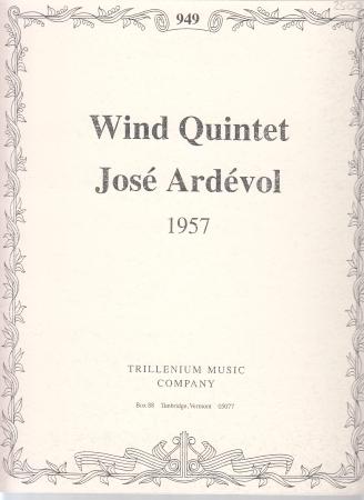 WIND QUINTET (1957) score