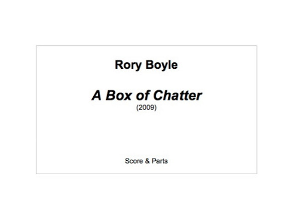 A BOX OF CHATTER (score & parts)