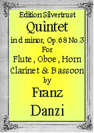WIND QUINTET in C major, Op.68 No.3 (parts only)