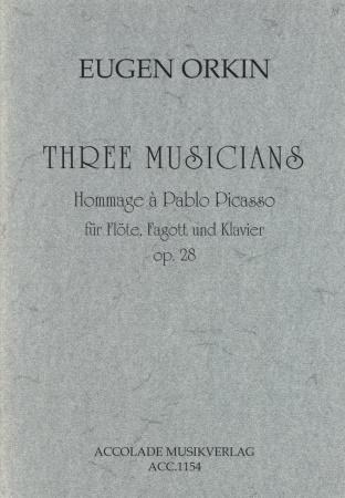 THREE MUSICIANS Hommage a Pablo Picasso Op.28 score & parts