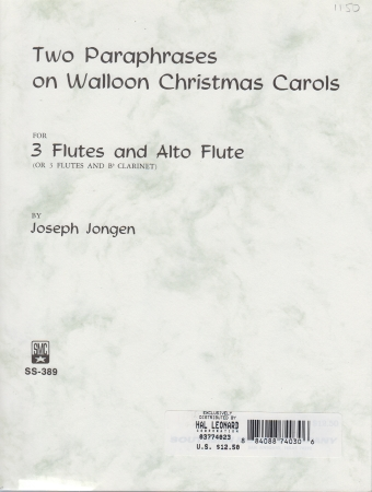 TWO PARAPHRASES on Walloon Christmas Carols Op.114