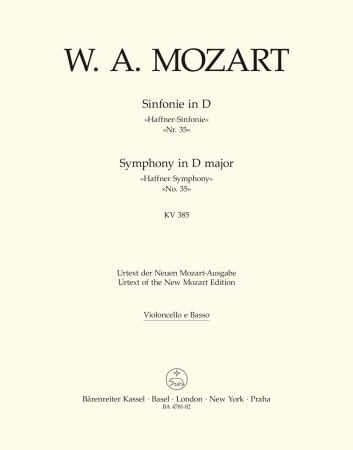 Symphony No.35 - Cello/Bass