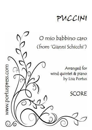 O MIO BABBINO CARO (score & parts)