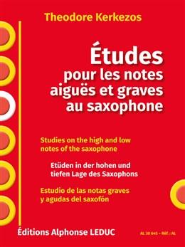 ETUDES pour les Notes Aigues et Graves au Saxophone
