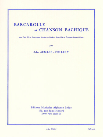 BARCAROLLE ET CHANSON BACHIQUE