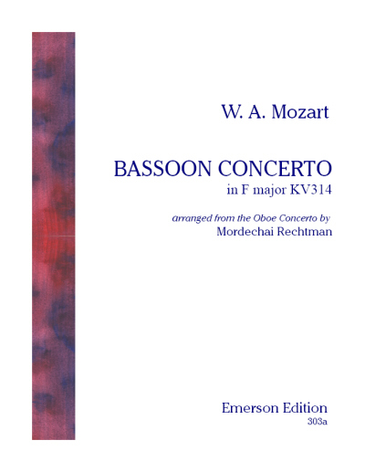 BASSOON CONCERTO KV314 (set of orchestral parts)
