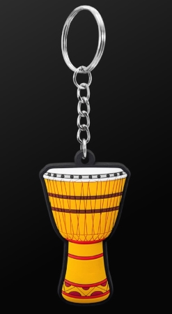 INSTRUMENT KEYRING African Drum (Yellow)