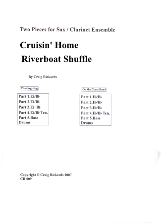 TWO PIECES: Cruisin' Home and Riverboat Shuffle