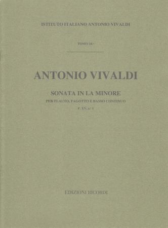 SONATA in a minor FXV/1 score
