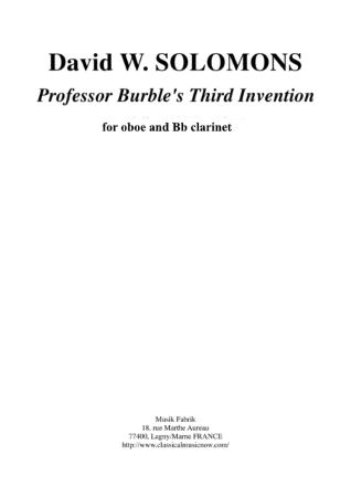 PROFESSOR BURBLE'S 3RD INVENTION