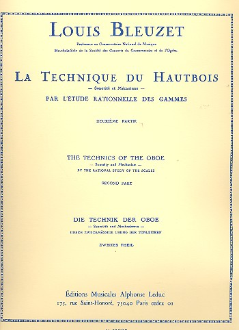 LA TECHNIQUE DU HAUTBOIS Volume 2