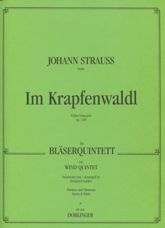 IM KRAPFENWALDL Polka Francaise Op.336 score & parts