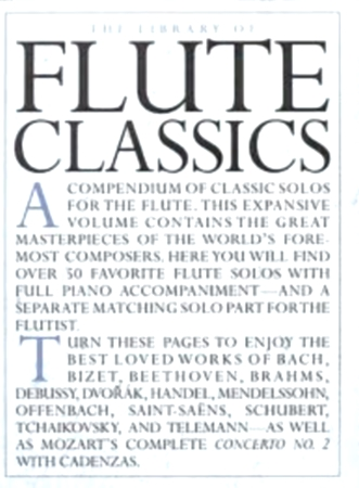 LIBRARY OF FLUTE CLASSICS 55 pieces