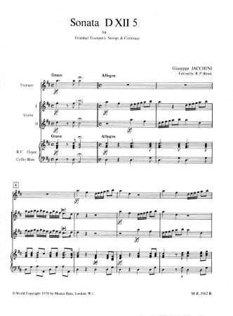 SONATA in D major XII/5 (score & parts)