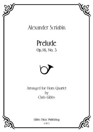 PRELUDE Op.16 No.3 (score & parts)
