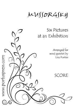 SIX PICTURES AT AN EXHIBITION score & parts