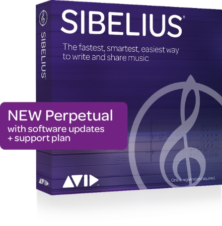 SIBELIUS Perpetual Licence + 1 Year of Support & Updates (Boxed)