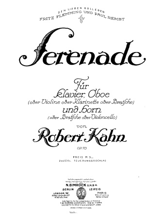 SERENADE in F minor Op.73 - Viola 1