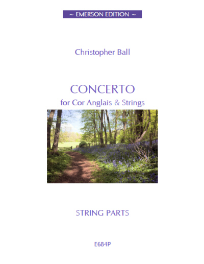 CONCERTO for Cor Anglais - String Parts Set
