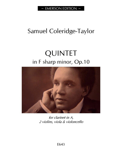 QUINTET in F sharp minor Op.10 (score & parts)