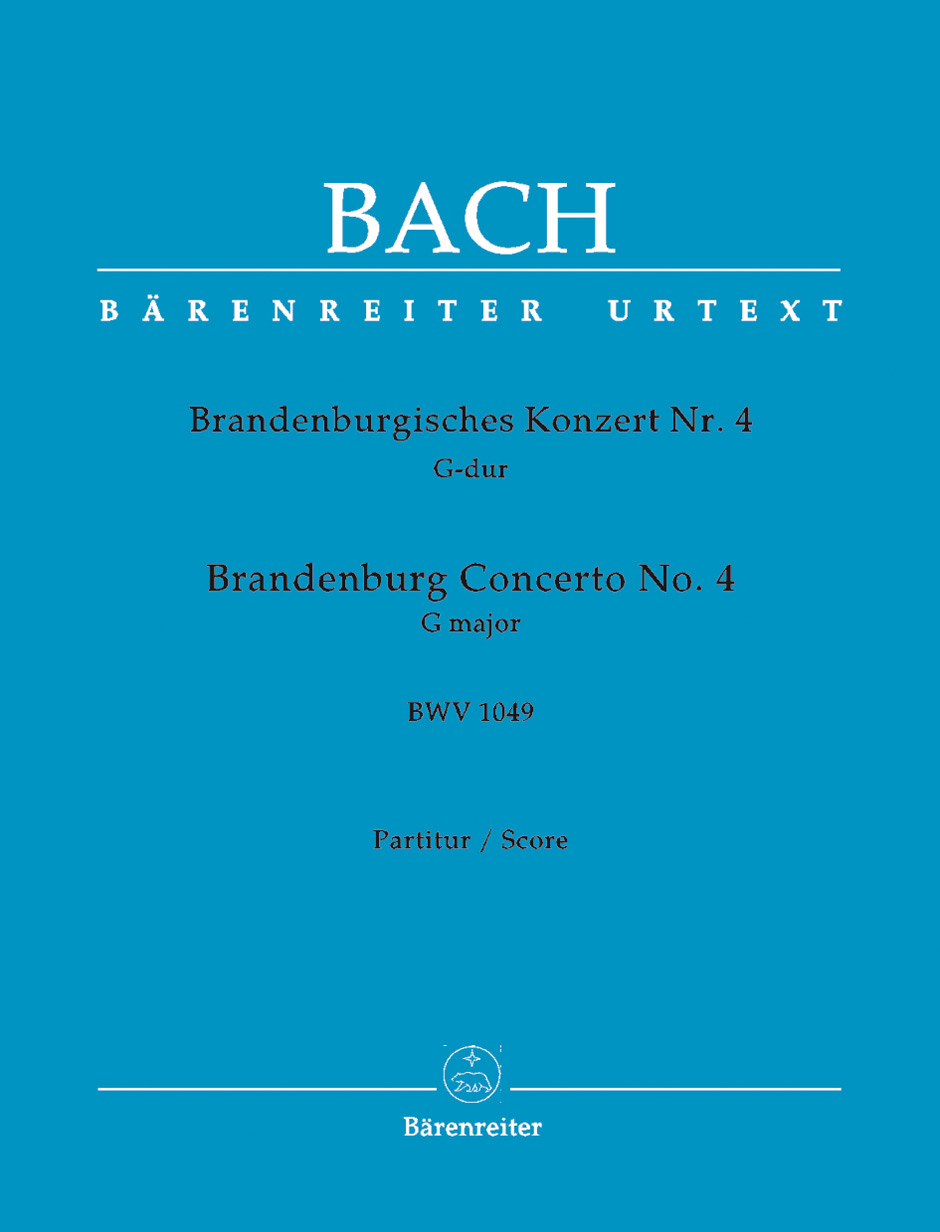 BRANDENBURG CONCERTO No.4 - Large Score paperback