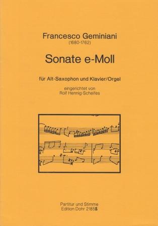 SONATA in e minor with organ