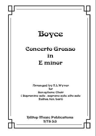 CONCERTO GROSSO in E minor