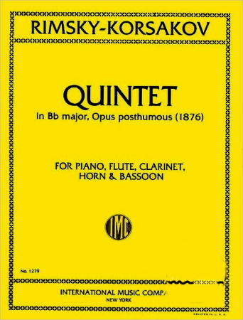 QUINTET in Bb major, Op.post. (piano score & parts)