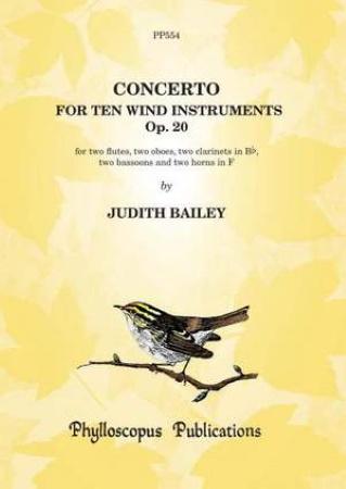 CONCERTO for Ten Wind Instruments Op.20 score & parts