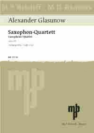 SAXOPHONE QUARTET in Bb major, Op.109 (set of parts)