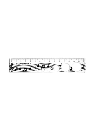 15cm RULER Music Notes