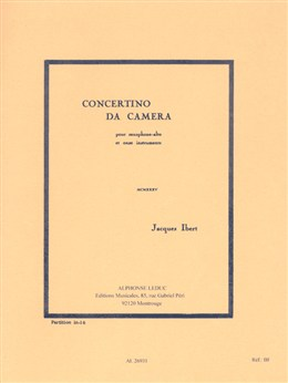 CONCERTINO DA CAMERA (miniature score)