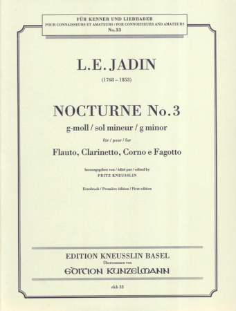 NOCTURNE No.3 in G minor (parts only)