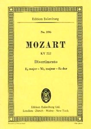 DIVERTIMENTO No.12 in Eb KV252 score