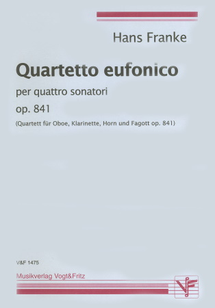 QUARTETTO EUFONICO Op.841 score & parts