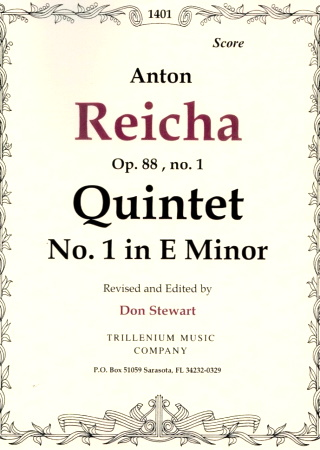 QUINTET Op.88 No.1 in E minor (score)