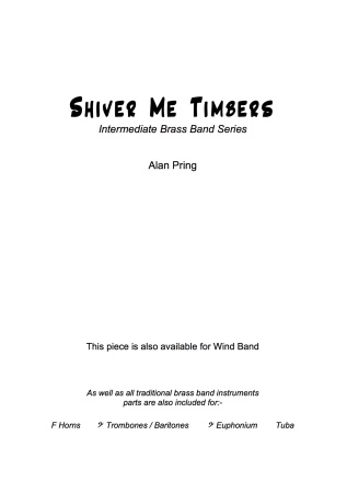SHIVER ME TIMBERS (score & parts)