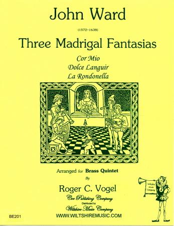 THREE MADRIGAL FANTASIAS score & parts