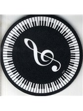 DRINKS COASTER Circular Keyboard With Treble Clef